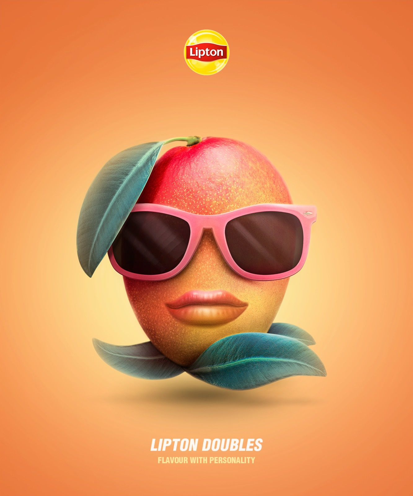"Lipton - ""Lipton doubles. Flavour with personality"" (thé aromatisé) I Agence : Isobar, Portugal (juillet 2017)"