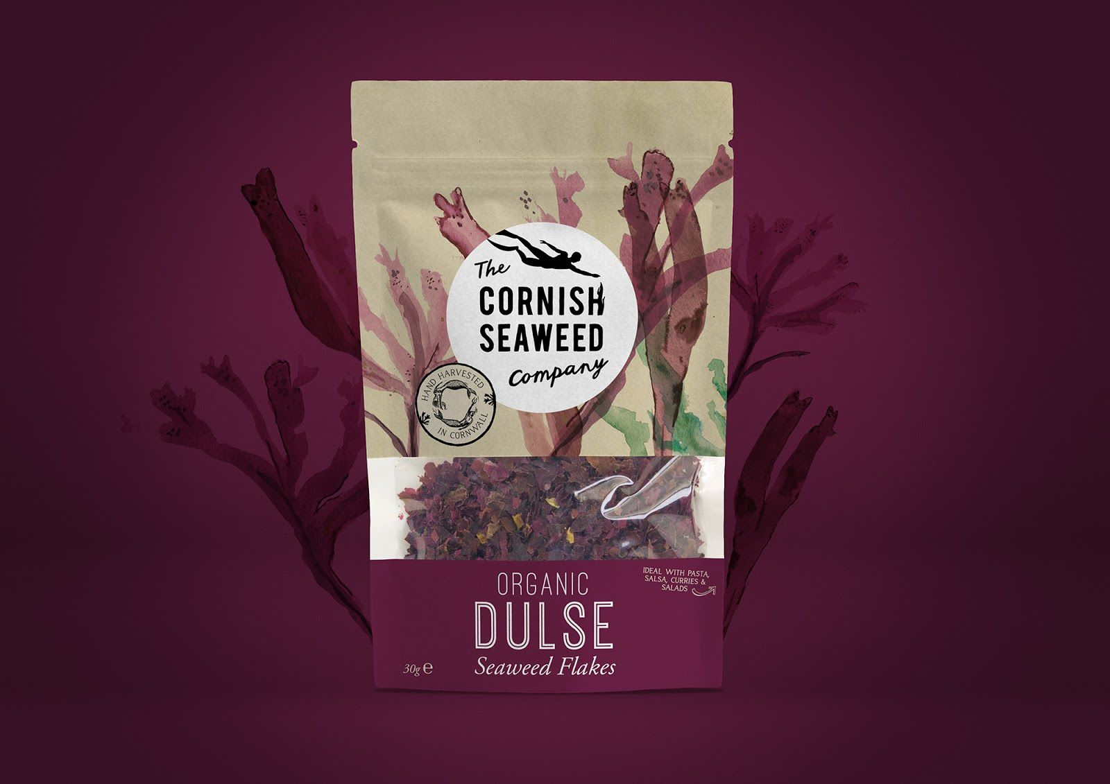 The Cornish Seaweed Company (paillettes d'algues bio pour salade) I Design : Kingdom & Sparrow, Royaume-Uni (septembre 2017)