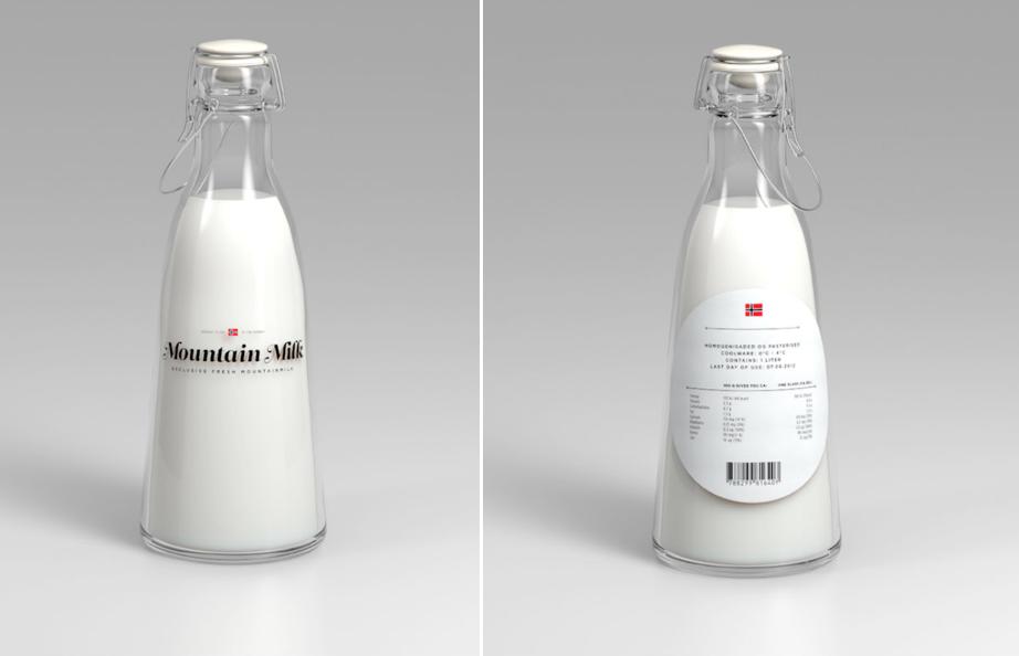 Moutain Milk (projet étudiant) |  Design : Anders Drage, Norvège (2013)
