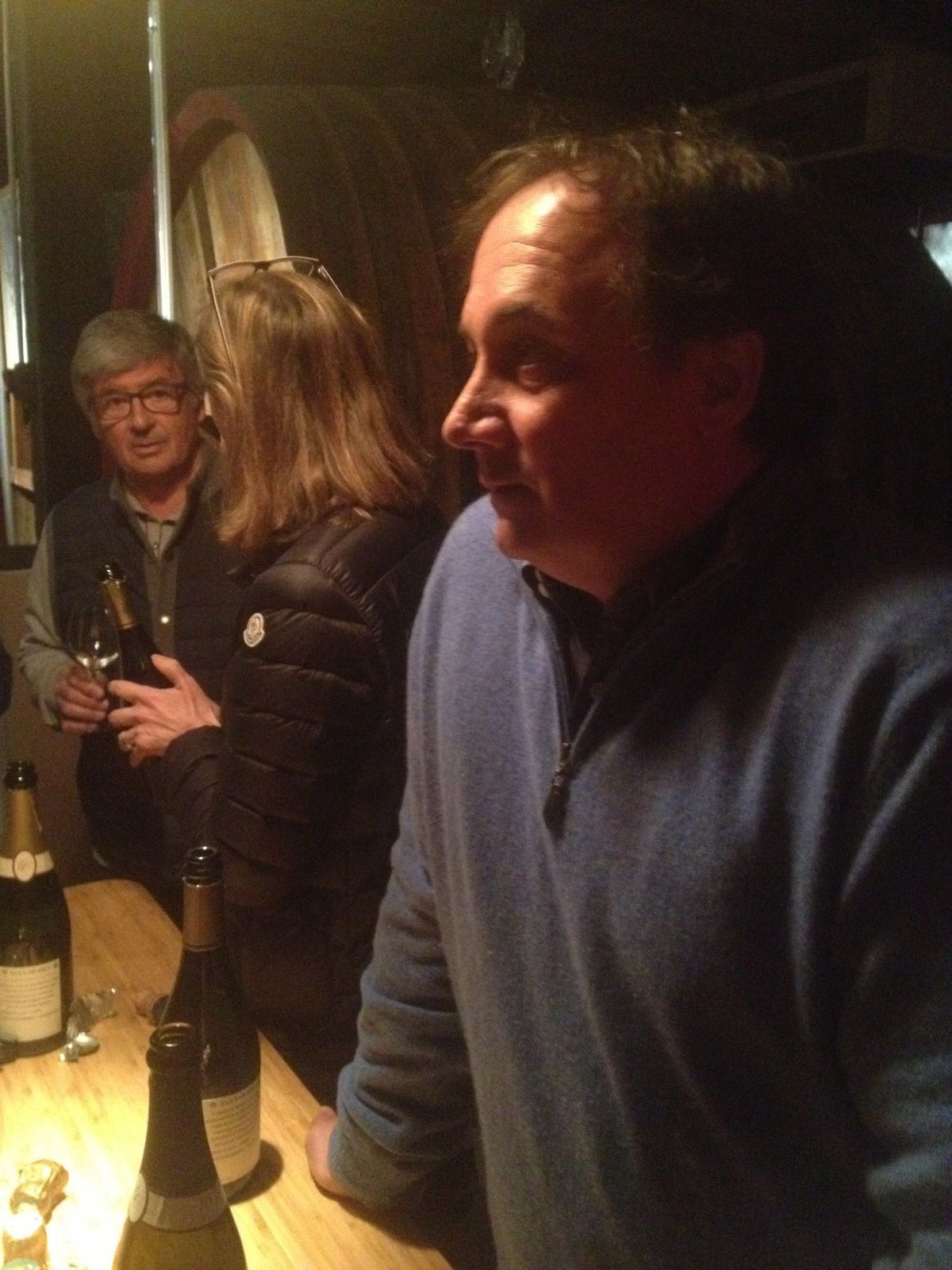 Francis Egly attentif tandis que Madame discute avec le fameux (Chez) Bruno de Dijon