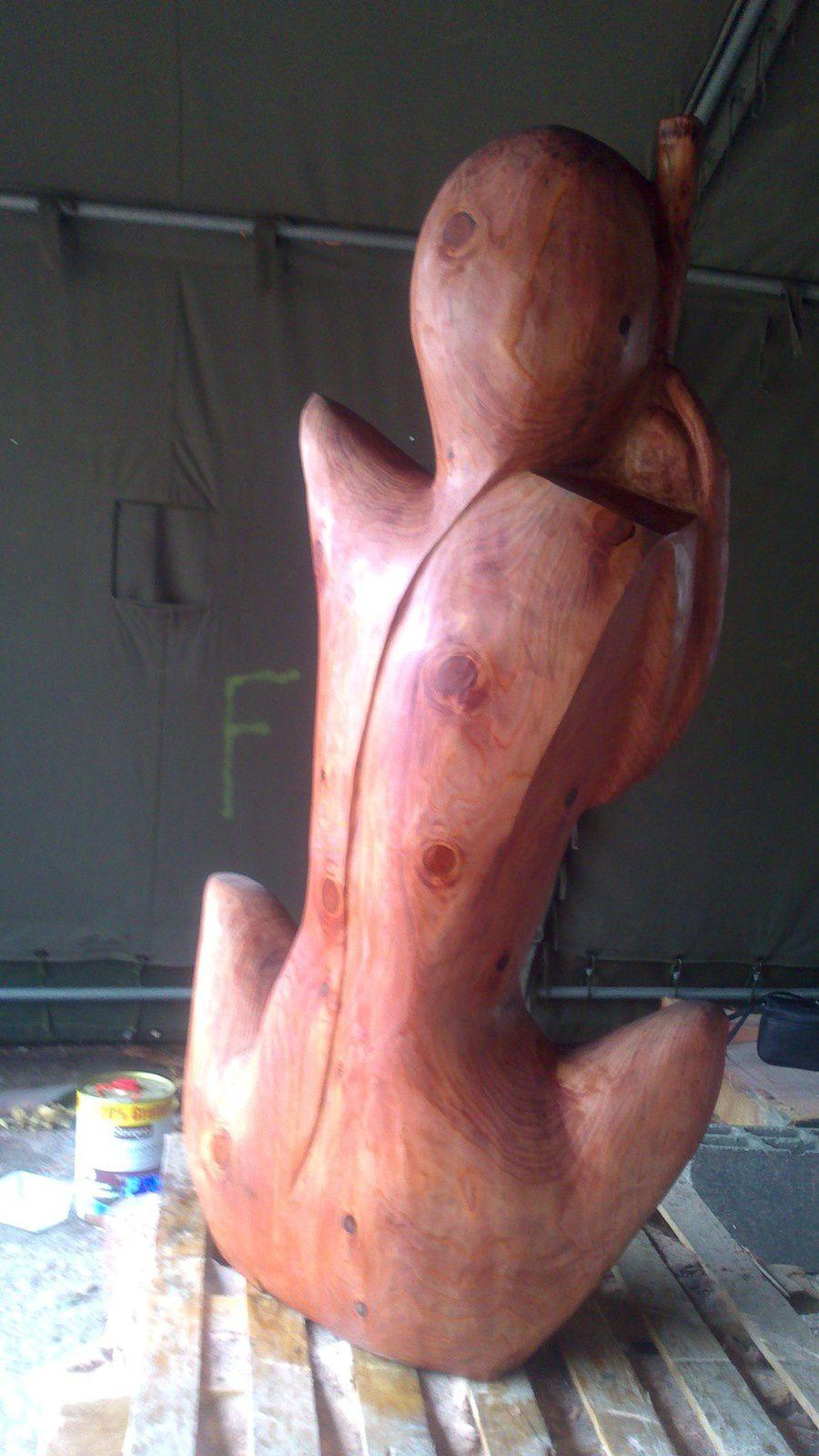 Les Ateliers de sculpture des chemins de St Jacques, la naissance du Gardien du Chemin