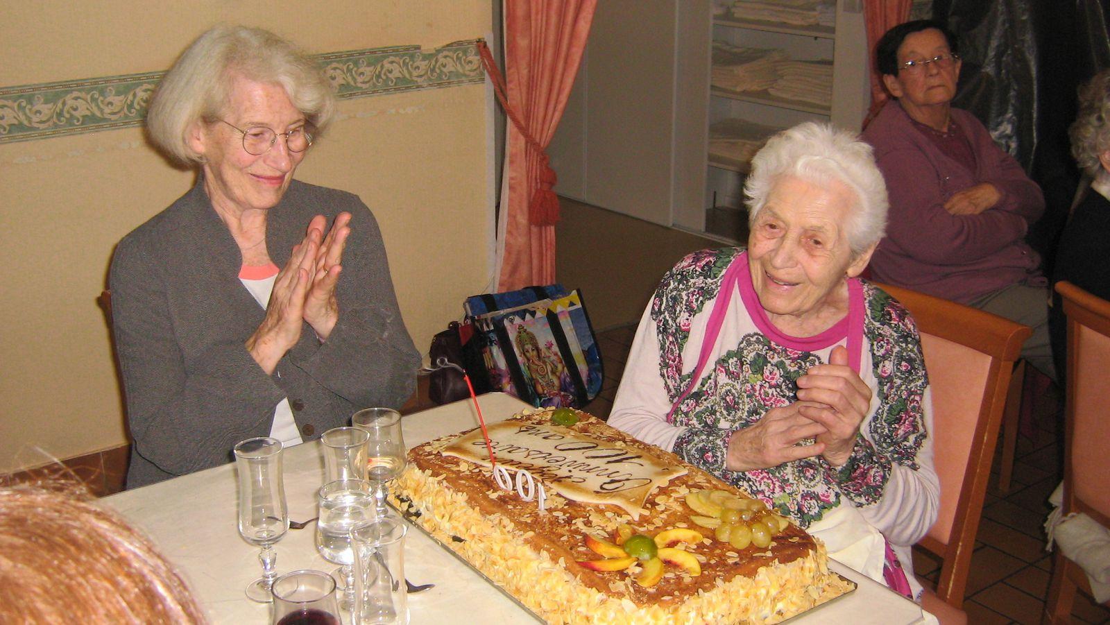 Frieda centenaire à Renaison
