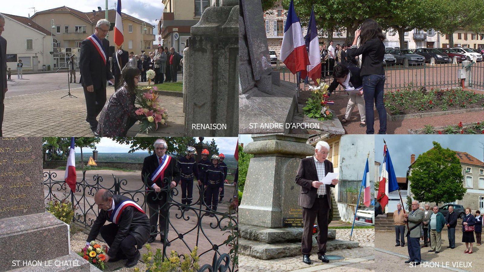 Cérémonies du 8 Mai sur la Côte Roannaise.