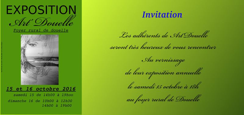 Exposition &quot&#x3B;Art' Douelle&quot&#x3B;,Photos ,Tableaux,.....