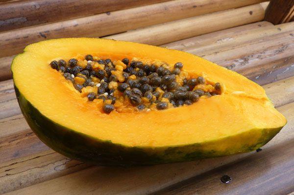 Et en dessert, faute de glace à la banane, une bonne papaye fraîche (bien choisie pour une fois) !
