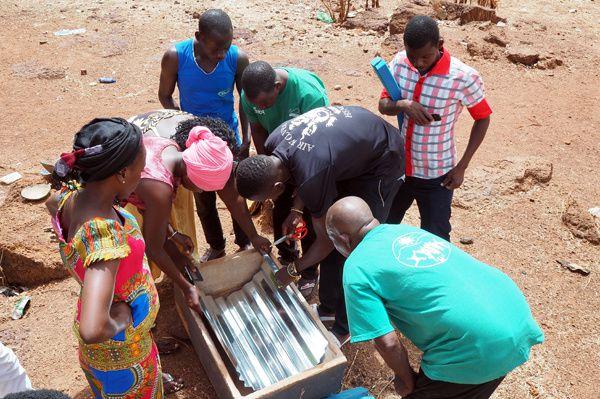 Premier essai de recyclage d'une ruche Vautier en cérificateur solaire