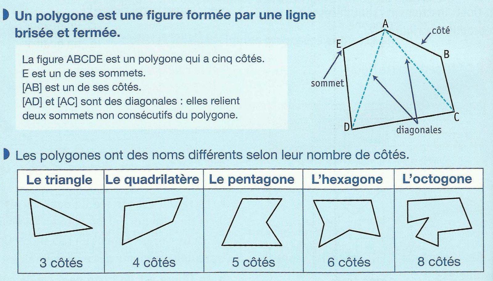 Géométrie (5): Les polygones