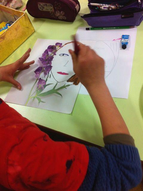 Atelier dessin  au collège de Lacapelle Marival avec Maëlle de Coux  et à La Maurelle chez Monique