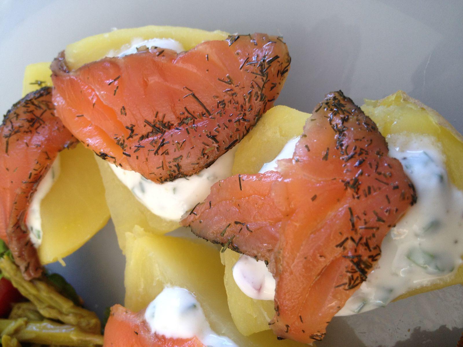 Avec du saumon fumé mariné ...