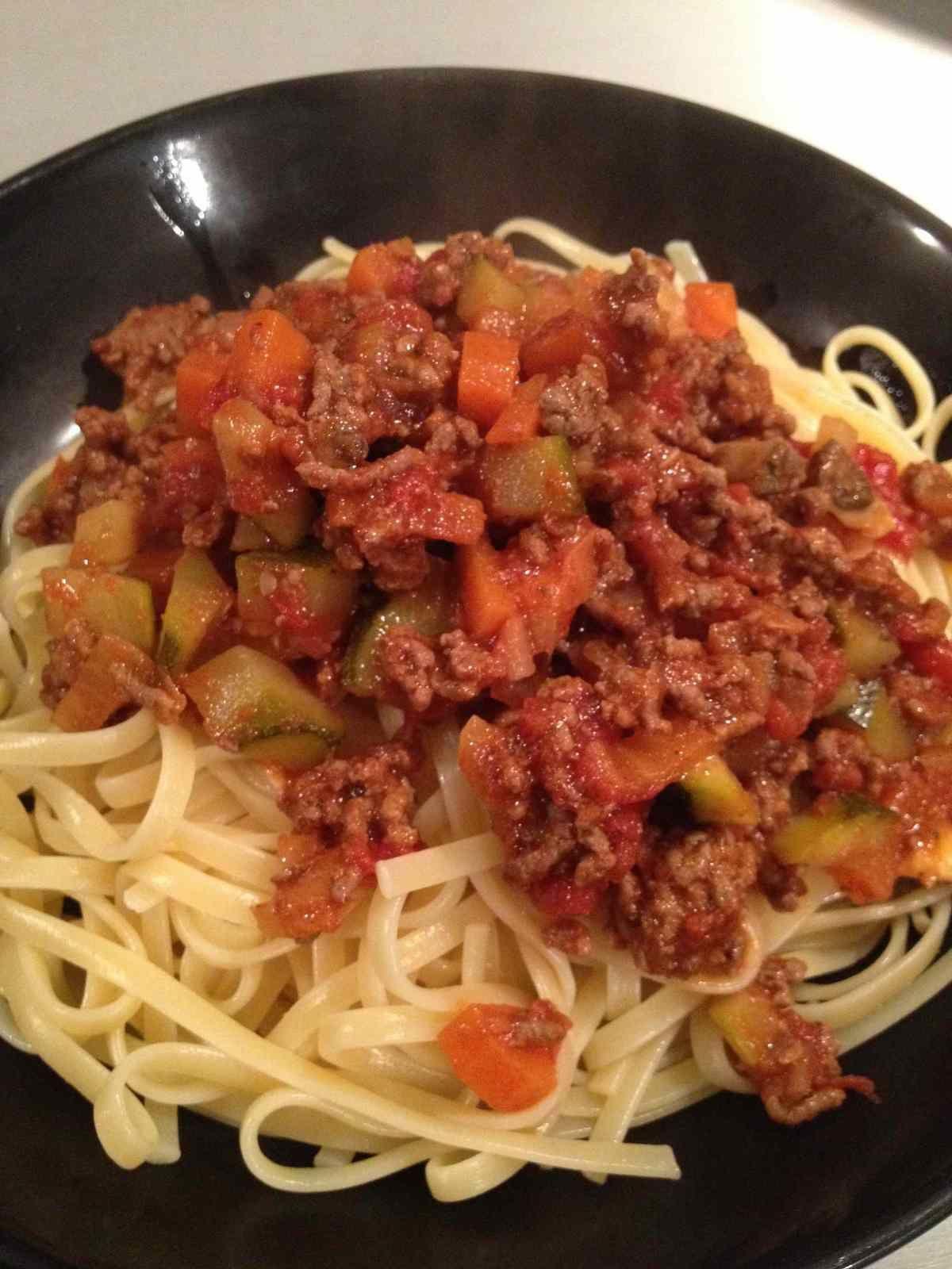 Sauce bolognaise aux petits légumes