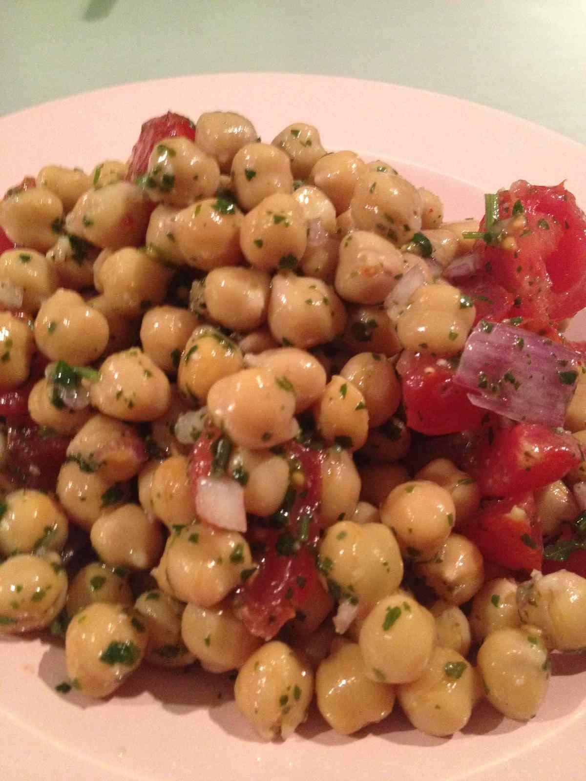 Salade de pois chiches aux épices