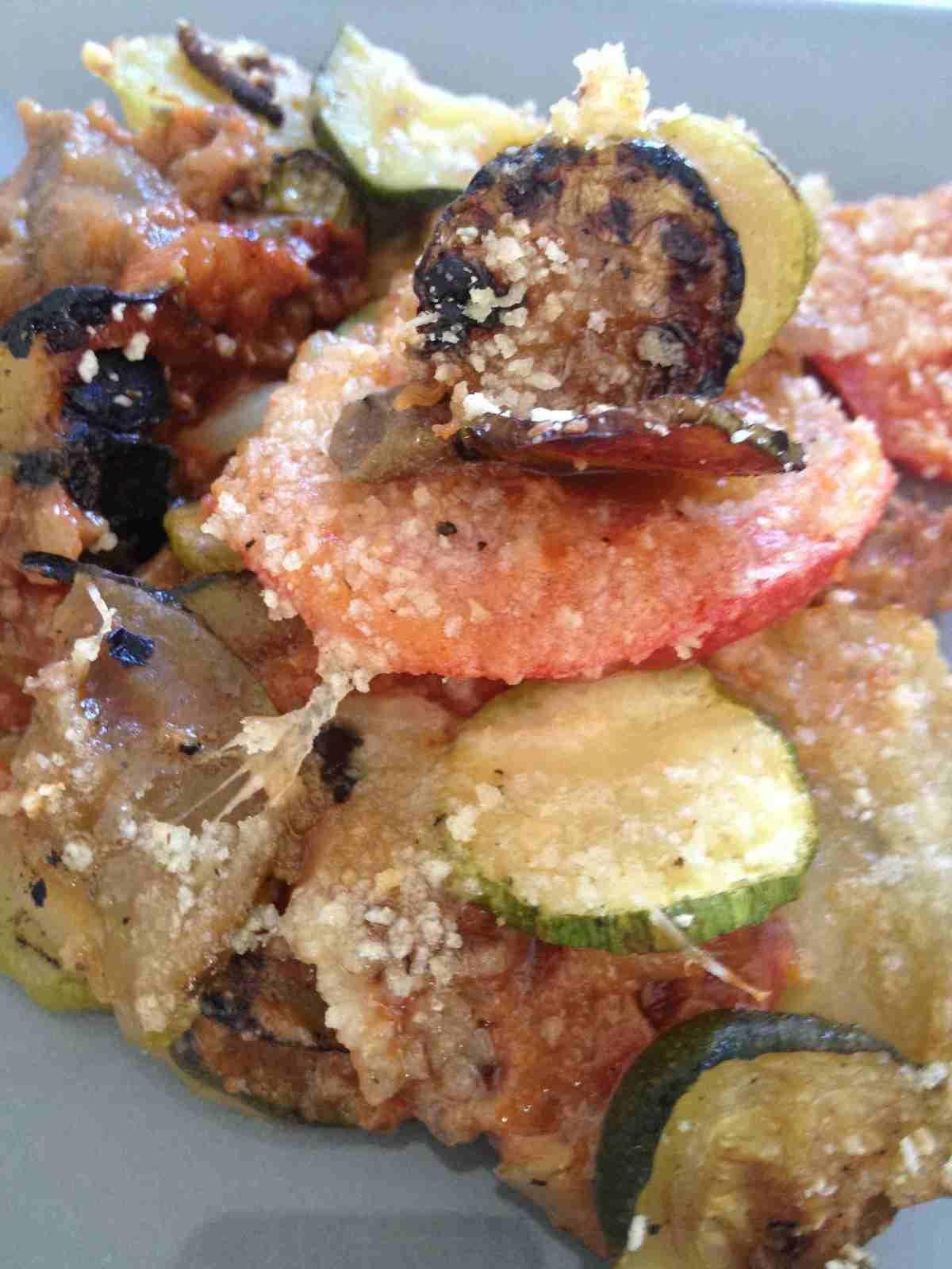 Gratin courgettes pomme de terre, viande hachée et tomates