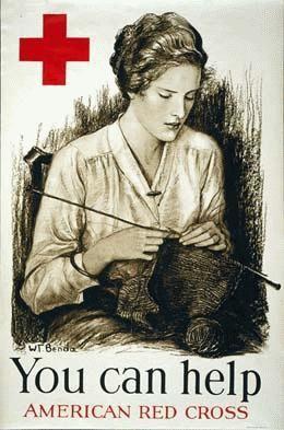 World War I Red Cross poster encouraging knitting, ca. 1917