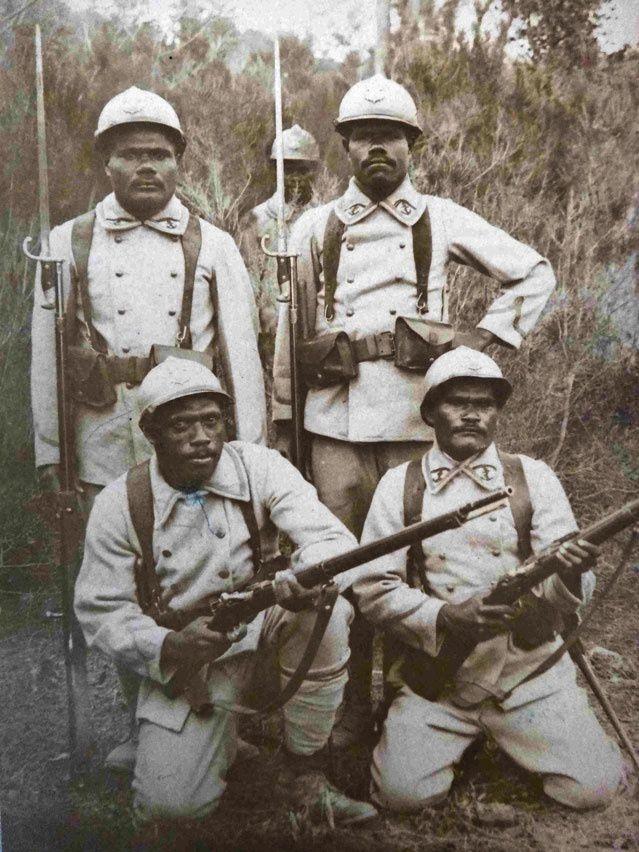 tirailleurs kanak, sans date, Musée de la ville de Nouméa