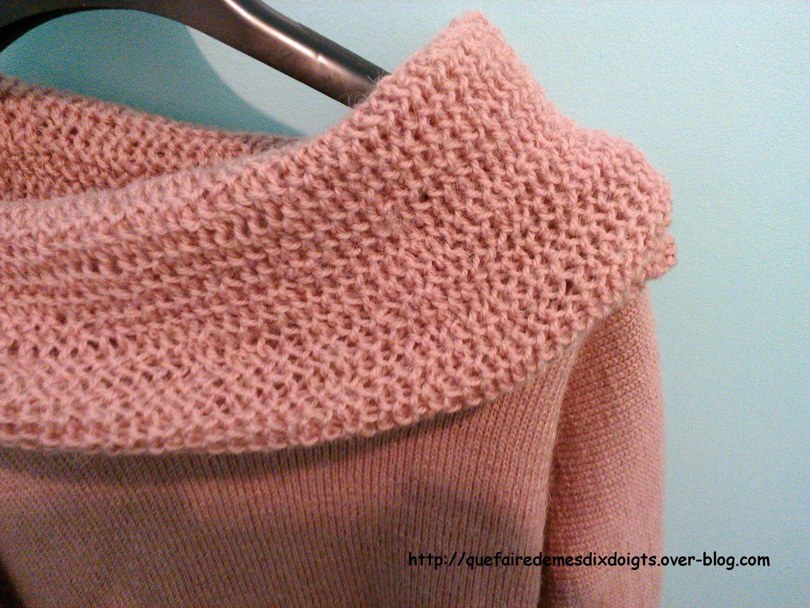 Un petit pull rose