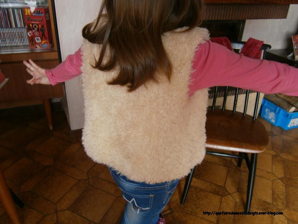 Gilet sans manches fillette
