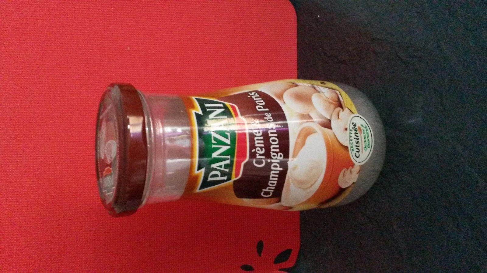 Test sauce panzani la crème de champignon de Paris