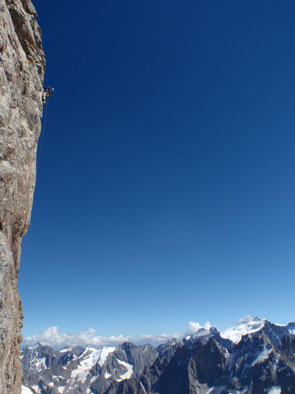 Le Dossier du Fauteuil, Grand Pic de la Meije 3983m.