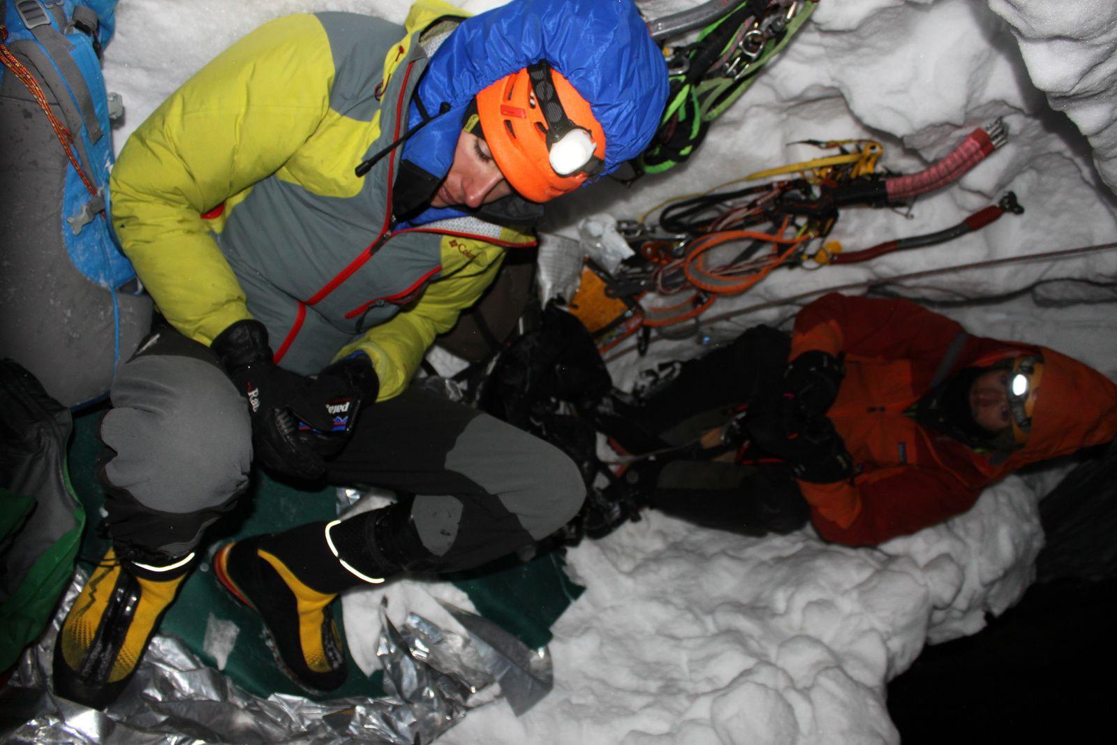 Face nord directe en hivernale, Grand Pic de la Meije 3983m.