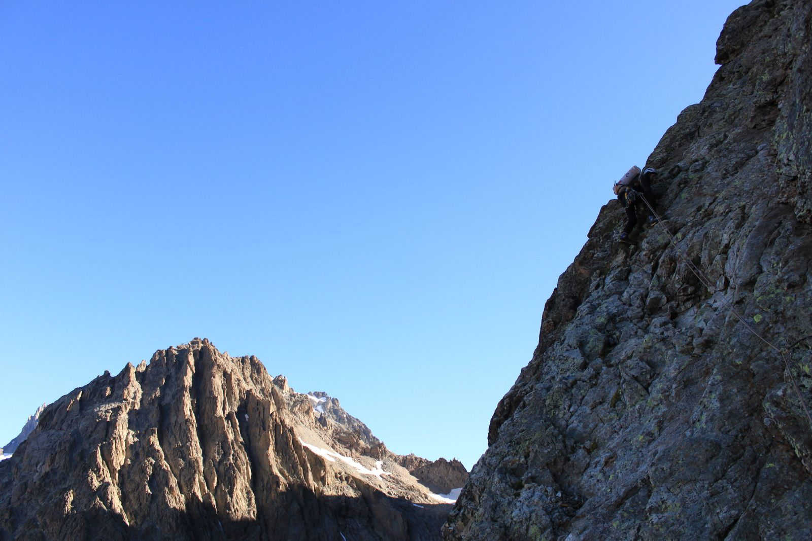 Pilier diagonal, Ailefroide Occidentale 3954m.