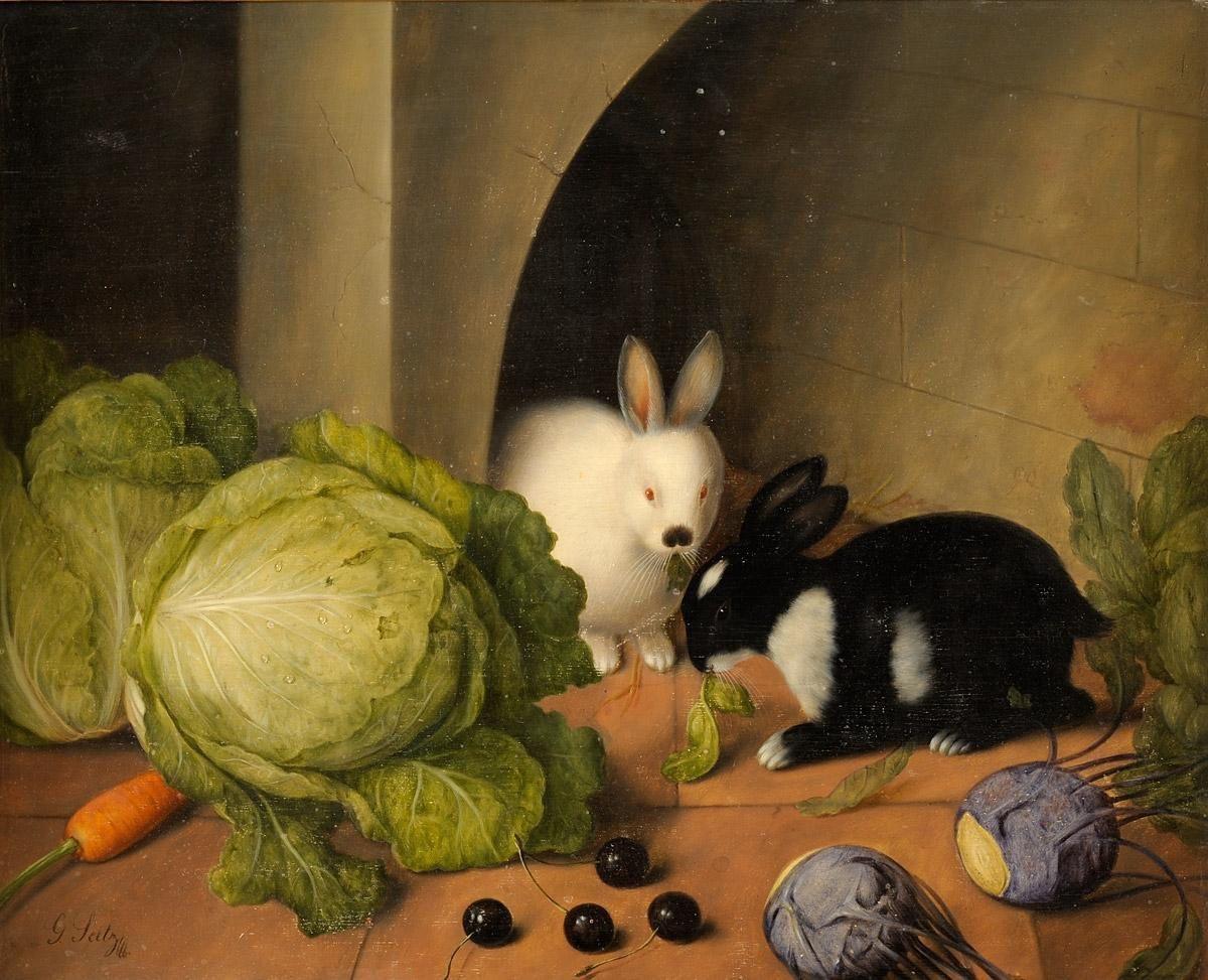 Le festin des deux lapins pour le Tableau du samedi chez Lady !