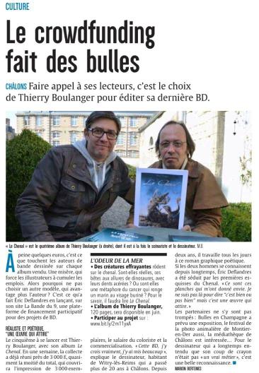 ACTU region : soutient d'un auteur Champenois