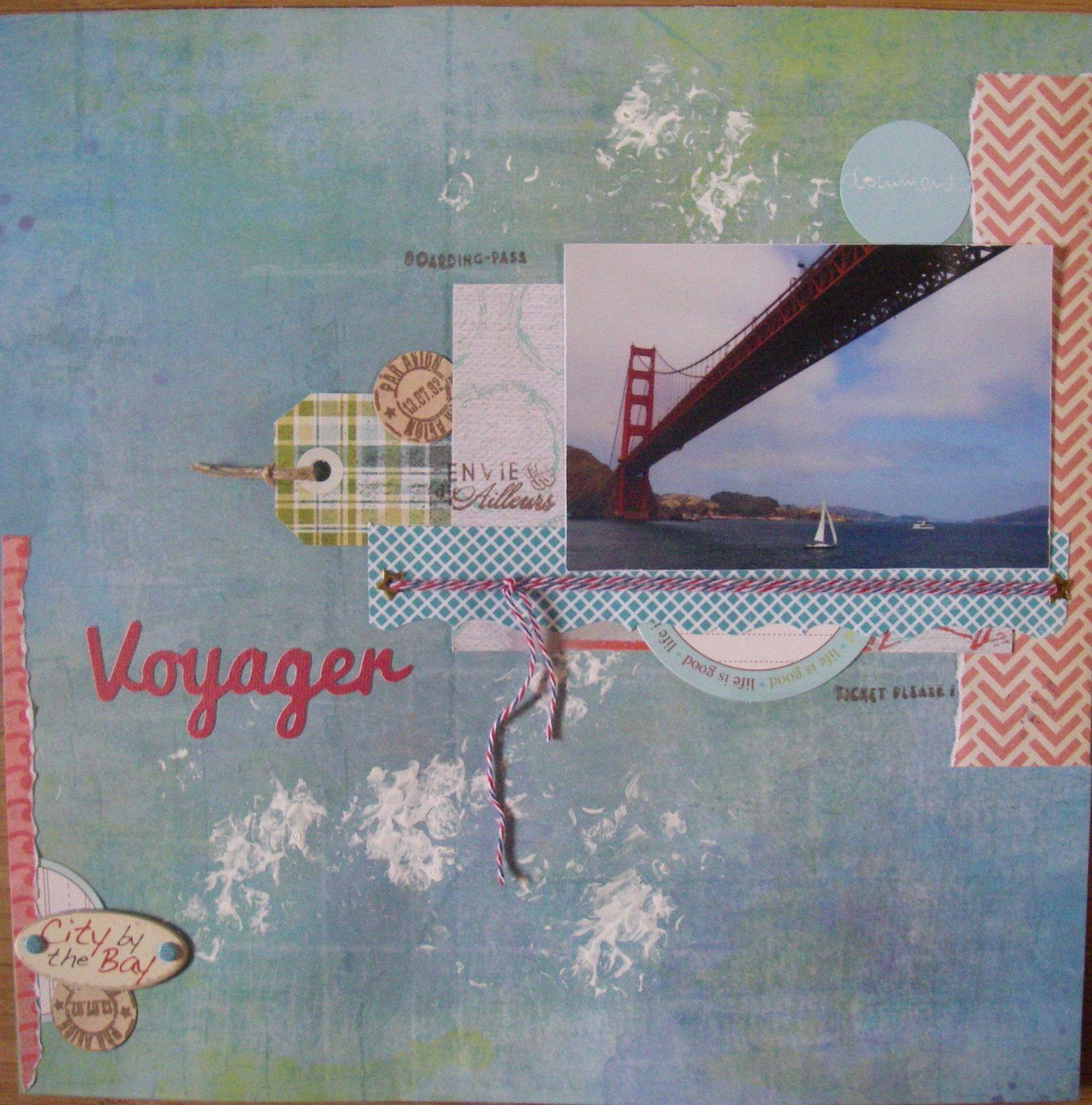 Et le non moins célèbre pont : le Golden Gate Bridge ! J'ai suivi un sketch de funny pour cette page.