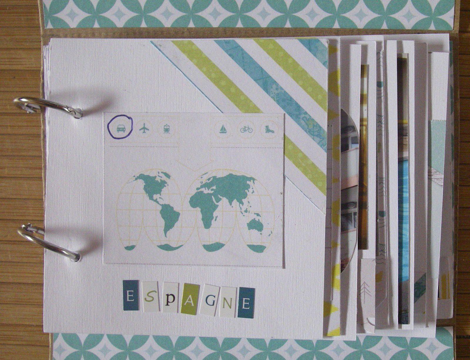 J'ai recoupé toutes mes photos. Les papiers et embellissements sont de la Marque Studio Calico, le carton ondulé de Toga, et quelques étiquettes Swirlcards.