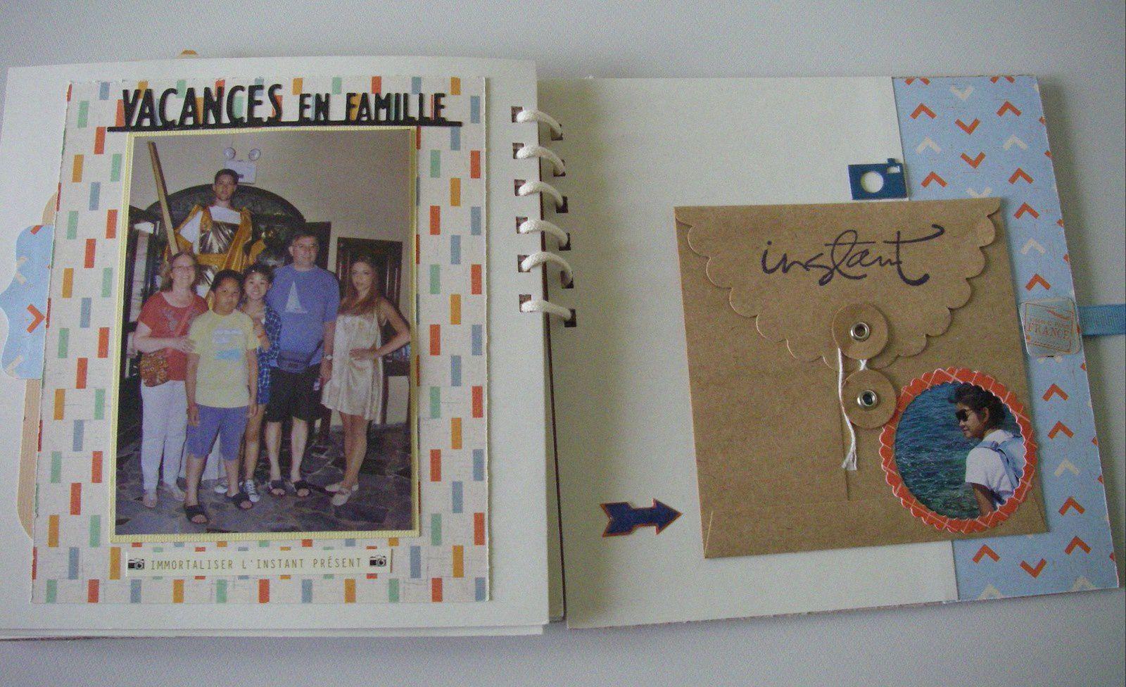 """J'ai utilisé les papiers de la Collection """"Jet Set"""" de We.R Memory Keepers."""