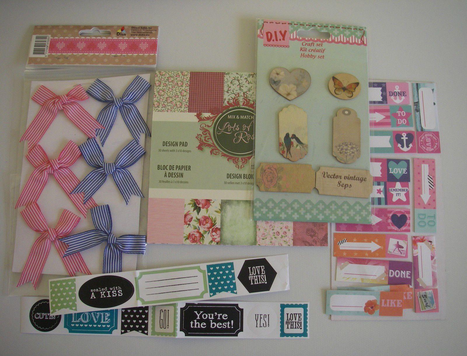 La jolie carte de Micheline, et tout plein de petits cadeaux !