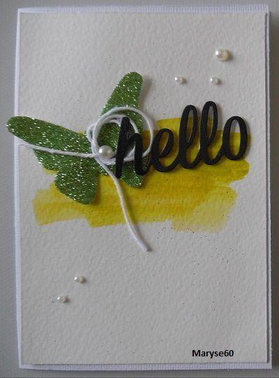 Presque tous les papillons ont été découpés dans du double face Lilly Pot'Colle et recouverts de poudre Velvet ou Glitter de Kési'Art.