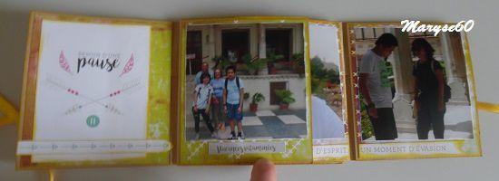 """J'ai pris beaucoup de plaisir à le faire. J'ai utilisé les beaux papiers """"Eté indien"""" des Ateliers de Karine, parfaits pour ces photos prises... en Inde l'été dernier !"""