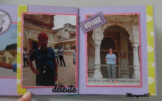 """Pour ces photos de vacances prises en Inde l'été dernier, j'ai utilisé les papiers """"Eté indien"""" des Ateliers de Karine."""