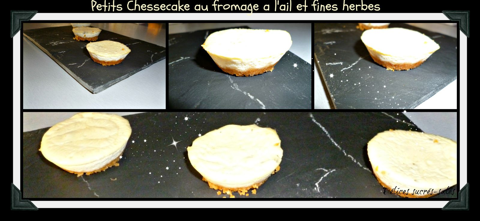 Cheesecake au fromage a l'ail et fines herbes
