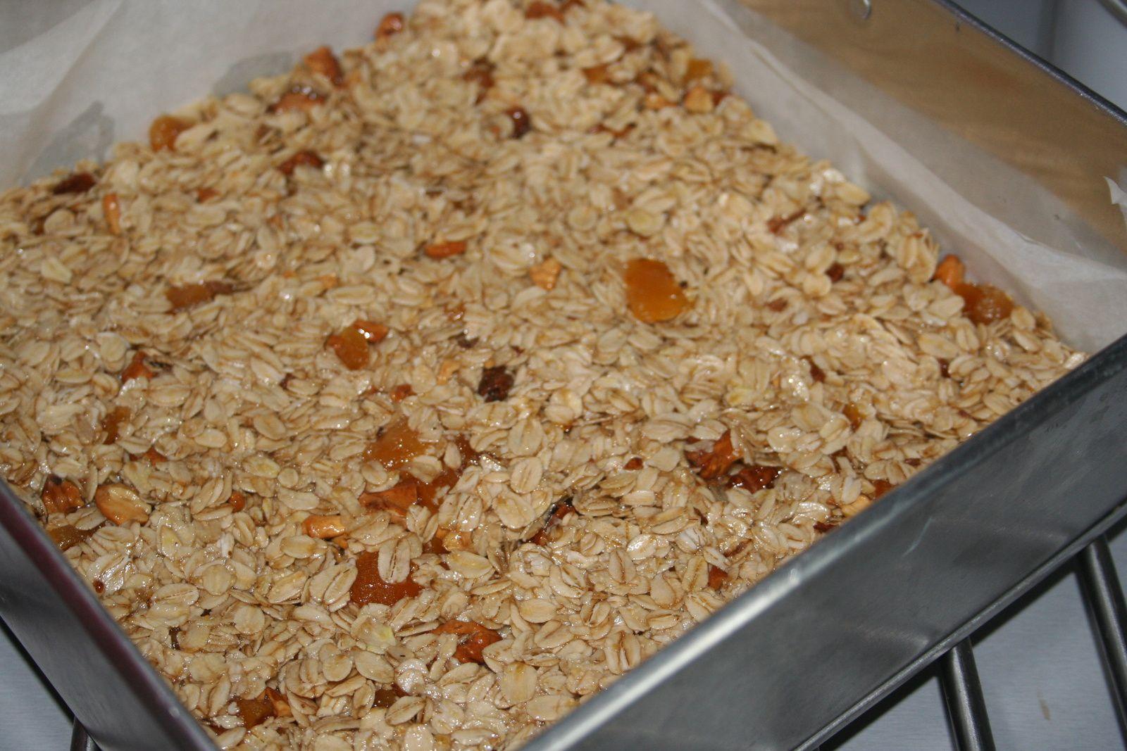 Flapjacks noix et abricots secs