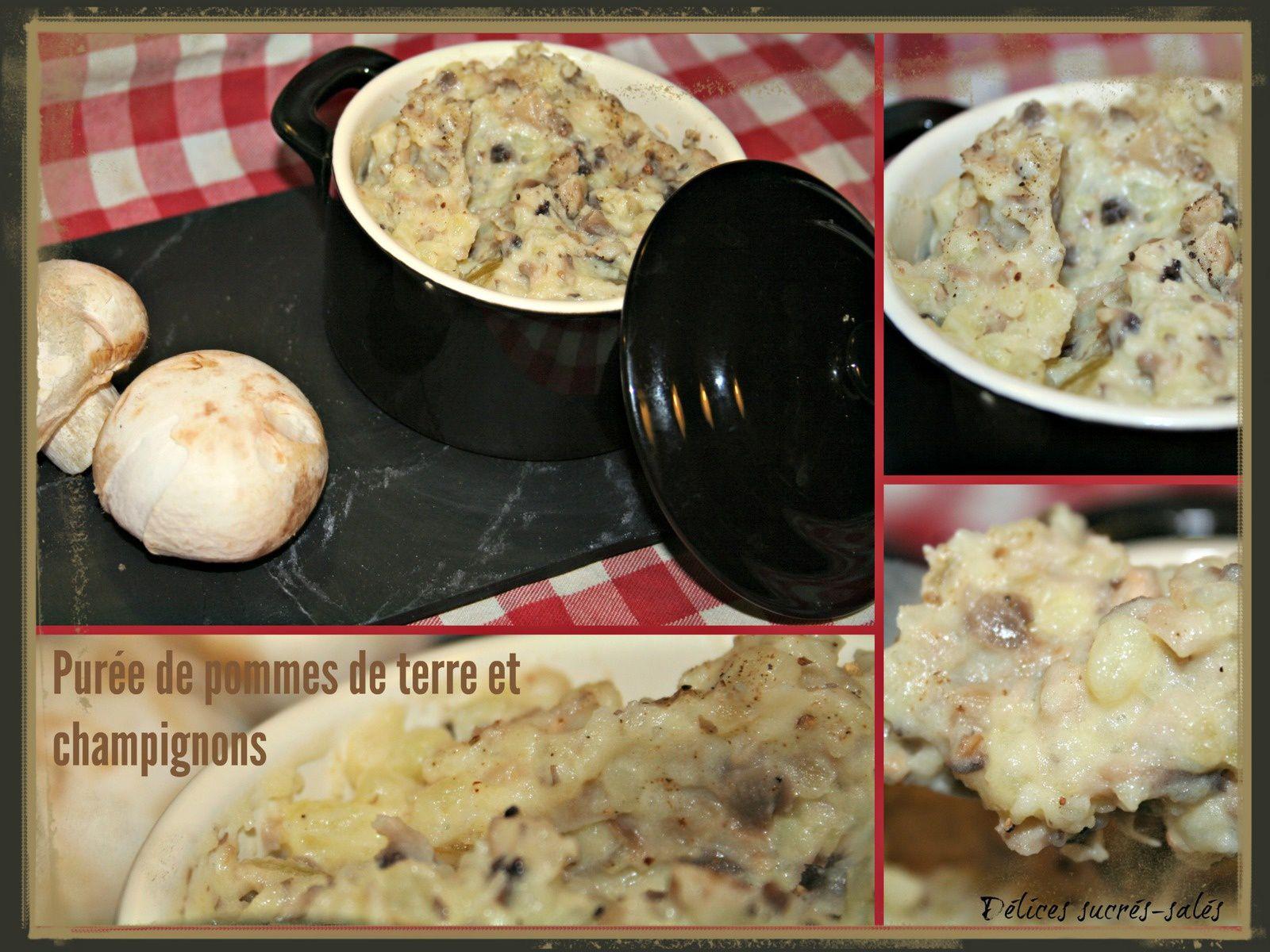 Purée de pommes de terre et champignons
