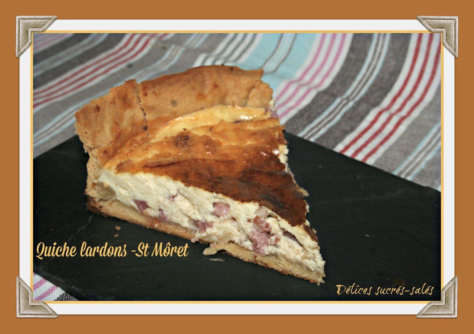Quiche lardons -St Môret