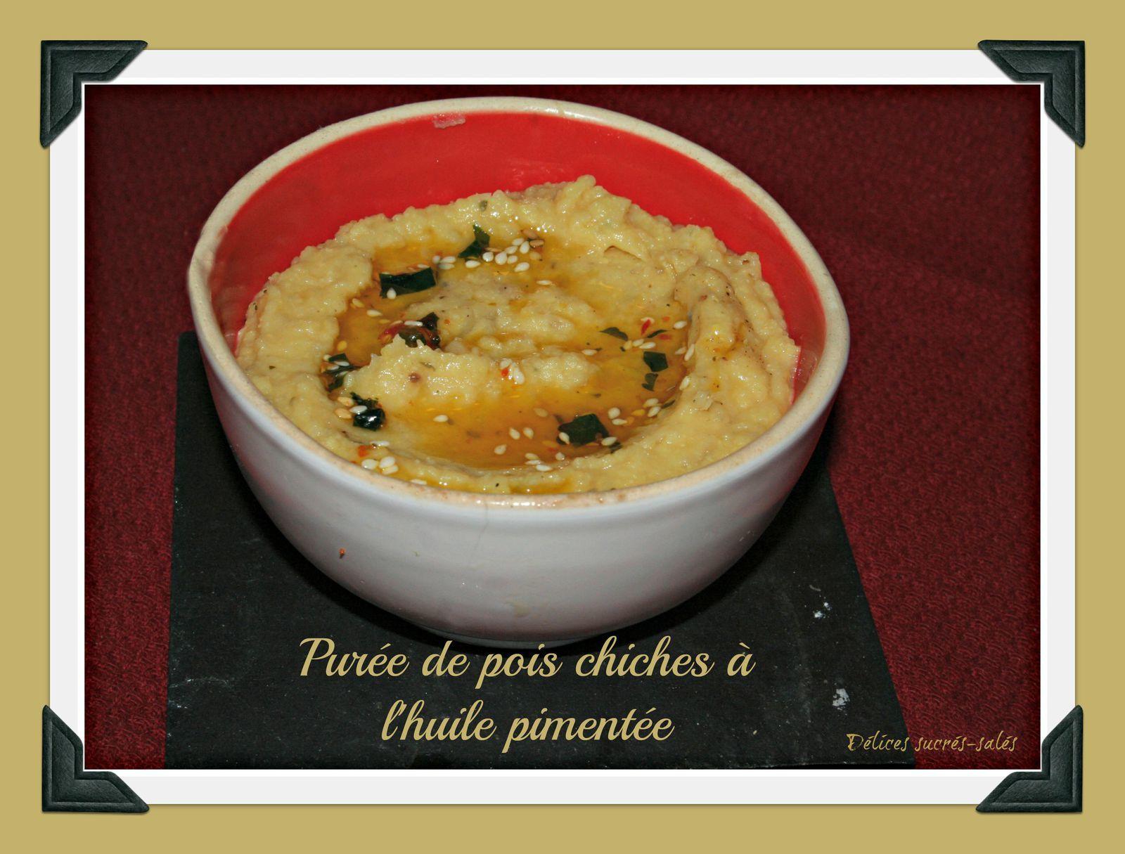 Purée de pois chiches à l'huile pimentée