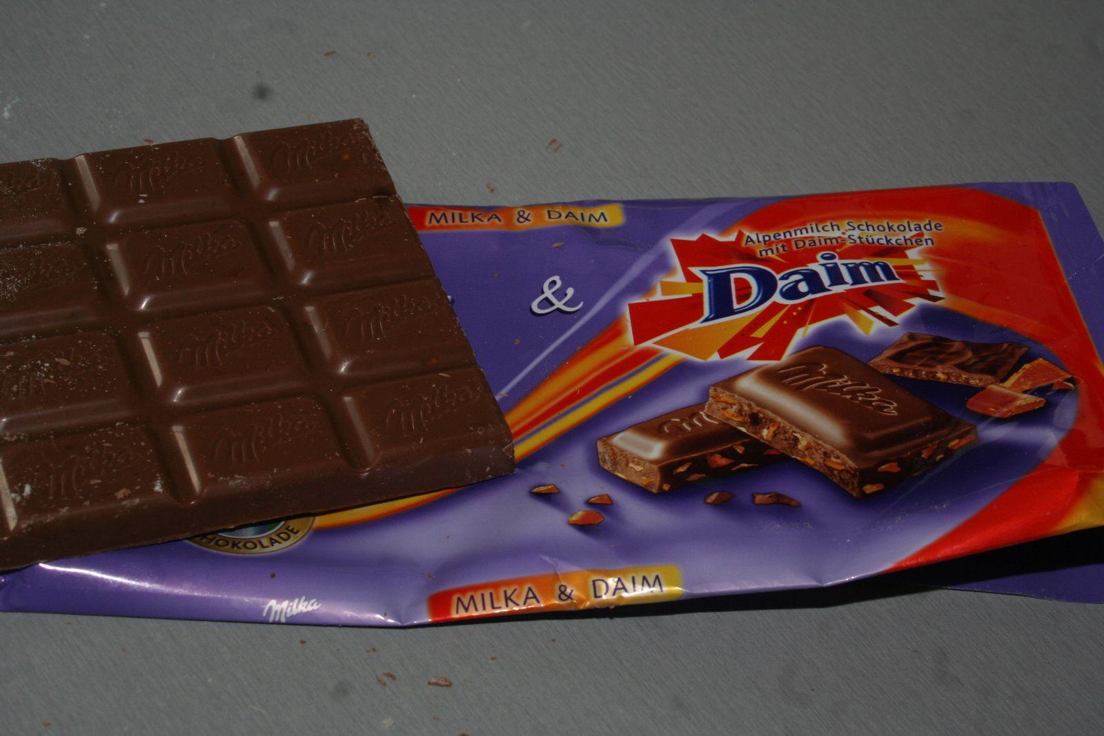 Cookies chocolat Milka aux daims