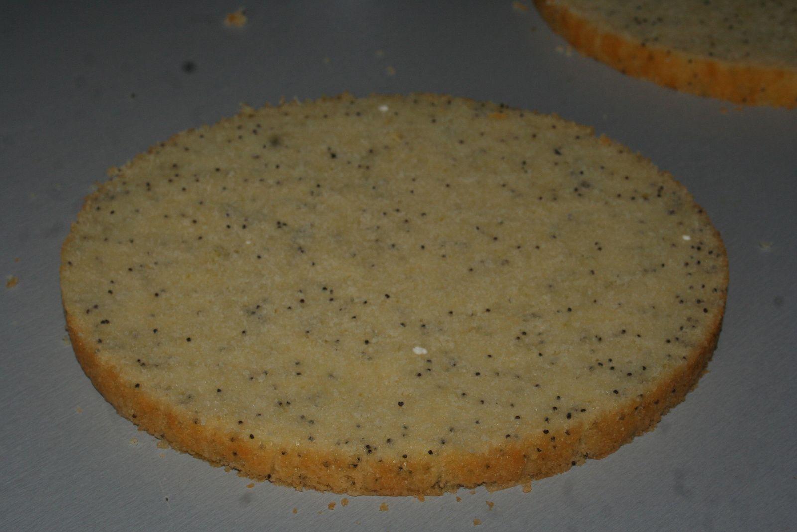 Layer cake citron vert-pavot