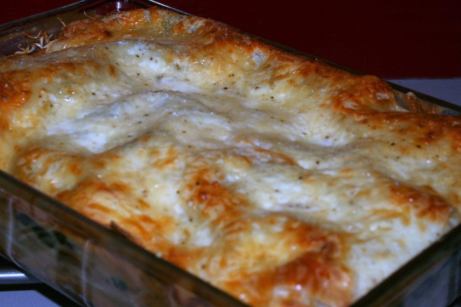 Lasagne épinards-mascarpone et 2 saumons