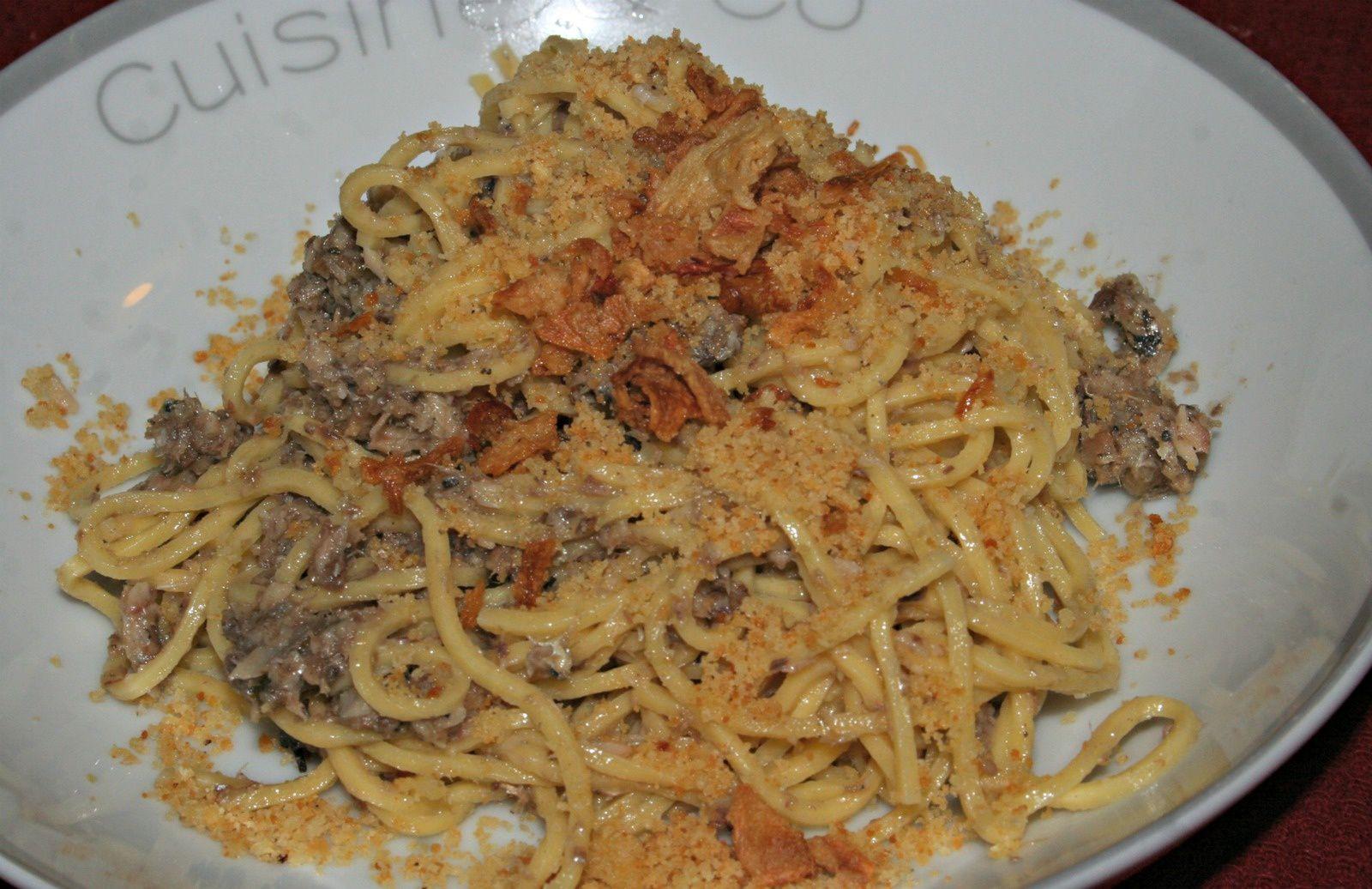 Spaghettis à la sardine de Gordon Ramsay revisité