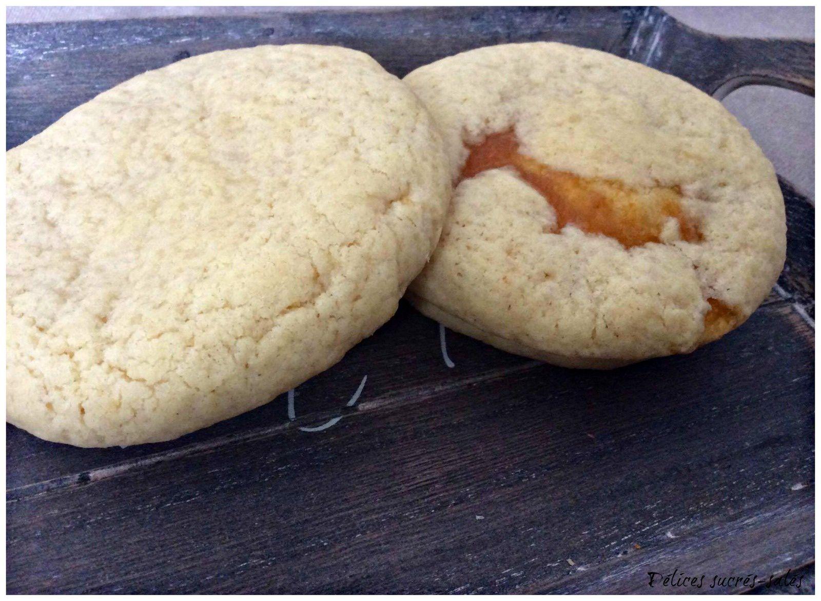 Cookie à la confiture d'abricot