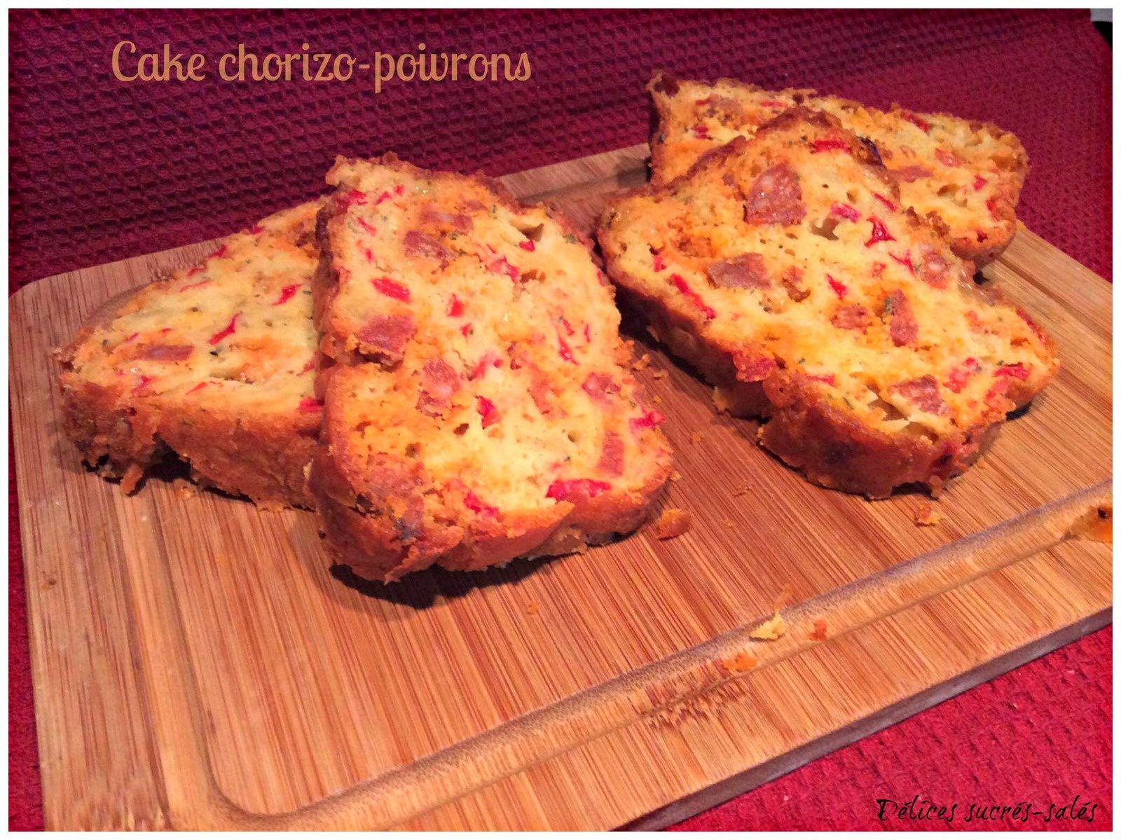 Cake chorizo-poivrons