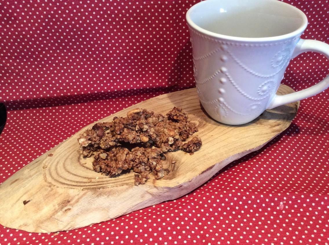 Granola fruits secs-double chocolat et sirop d'érable