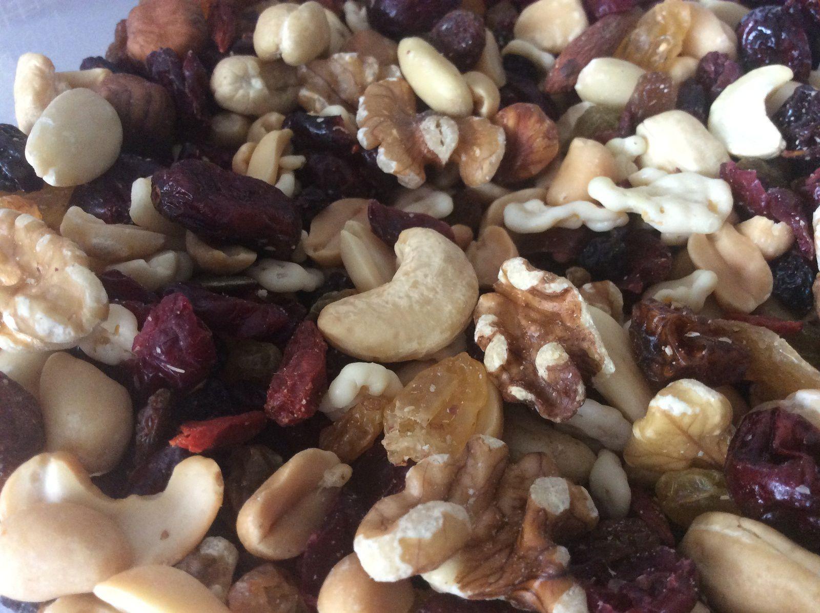 Cookies flocons d'avoine-banane-fruits secs et chocolat