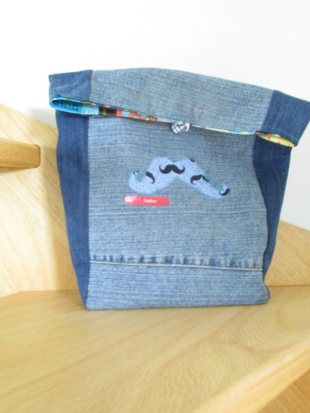 lunch bag avec lien tuto .. recyclage de jeans