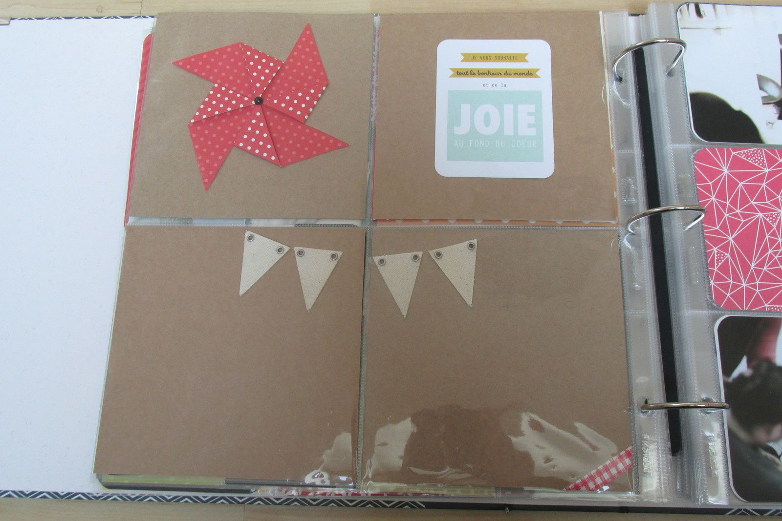 album scrap mariage, project life