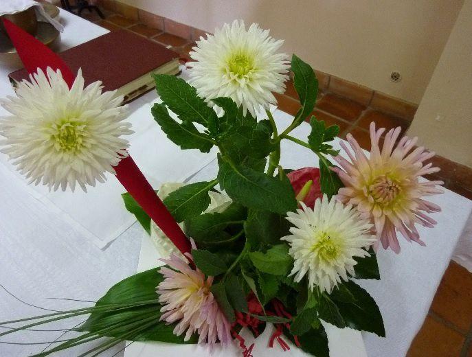 bouquet de fleurs fait par soeur Henriette