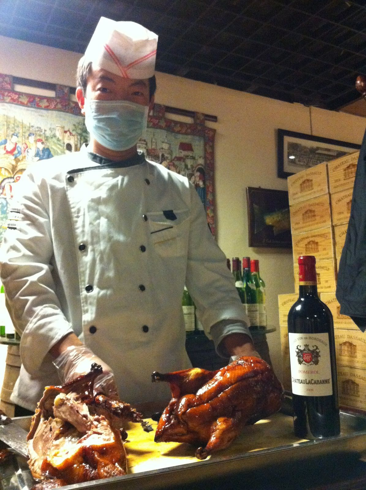 With its favorite Peking Duck...